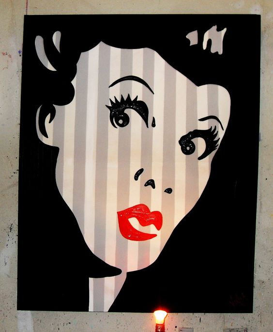 Lucille Ball I Love Lucy Pop Art  via Etsy.
