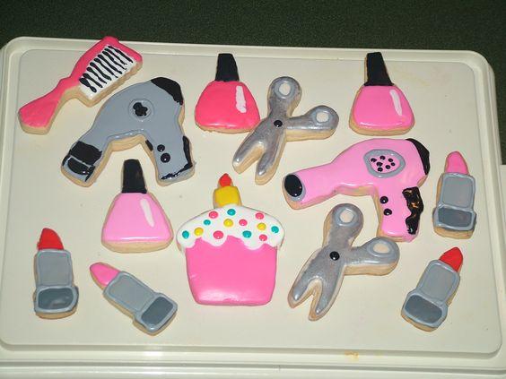 Stylist Salon blow dryer nail lipstick polish shears ...