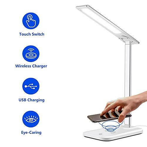 Harmonic Led Desk Lamp With Wireless Charger Dimmable Off Https Www Amazon Com Dp B07yd6fvcs Ref Cm Sw R Pi Dp U X Gpw Office Lamp Led Desk Lamp Desk Lamp