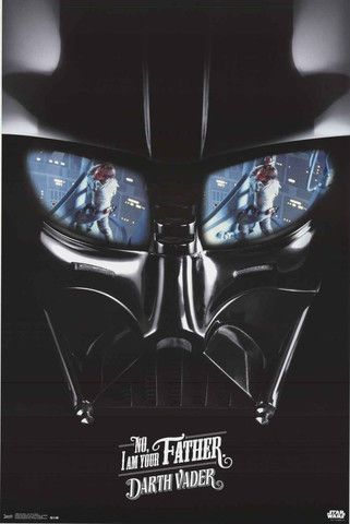Star Wars Darth Vader I Am Your Father Movie Poster 22x34