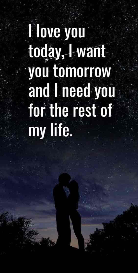 I Love You Quotes For Her Never Give Up I Would Like To Live In A