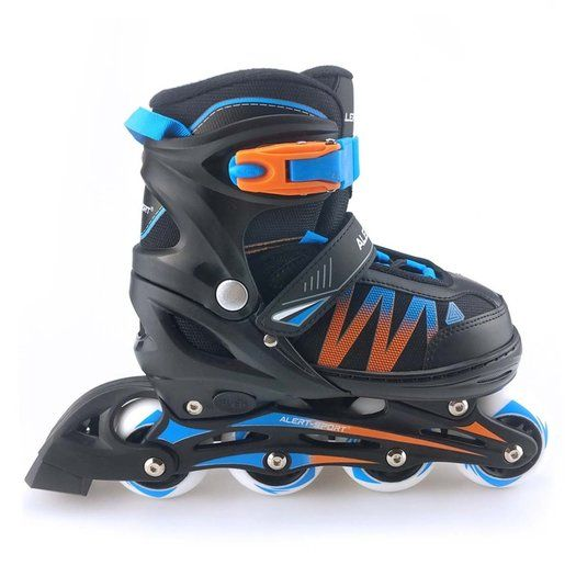 Alert Inline Skates Maat 35 38 Zwart Blauw Oranje Blauw Oranje Roze Blauw Blauw
