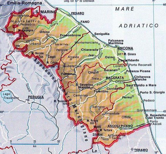 Cartina Stradale Civitanova Marche.Mappa Delle Marche Cartina Delle Marche Mappa Mappa Dell Italia Carte Geografiche