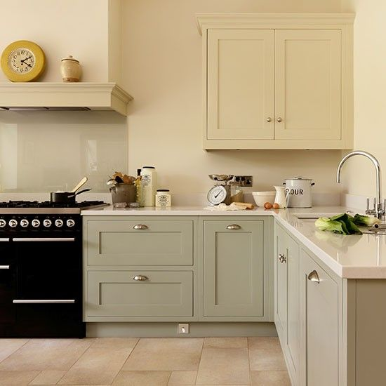 Cream and pale grey kitchen   Kitchen decorating ideas   Beautiful Kitchens   Housetohome.co.uk