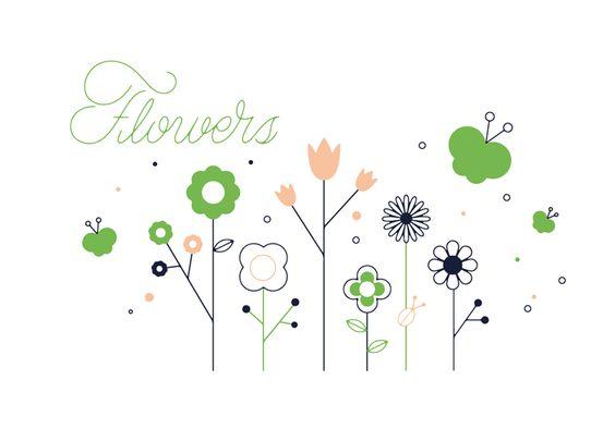 Flores vector livre