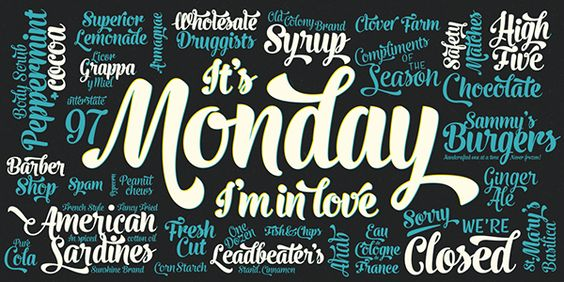 Monday -typeface on Behance by Emil Bertell