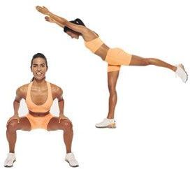 kickback squatstartstanding with your legs shoulder