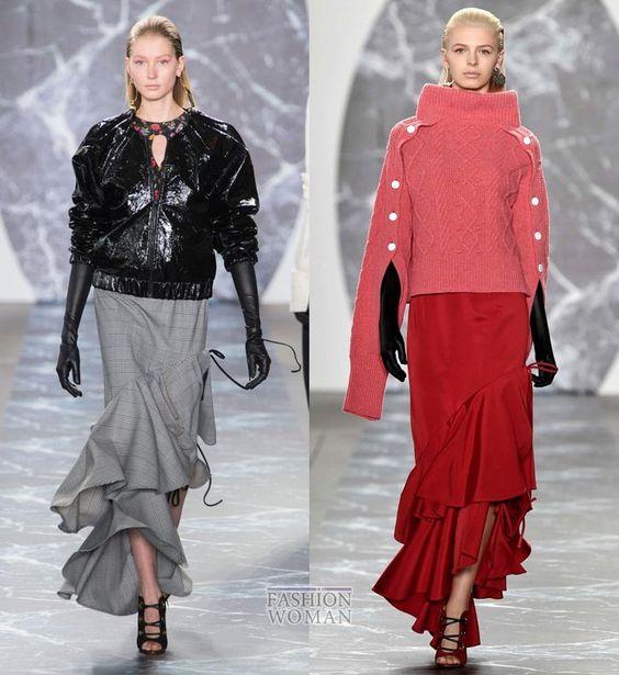 Модные юбки осень-зима 2018-2019 фото №17