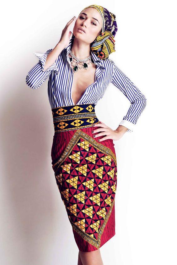 super combo chemise rayee jupe crayon et ceinture a motif c est parfait - Jupe Colore