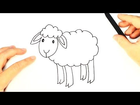 How To Draw A Sheep For Kids Sheep Easy Draw Tutorial Youtube Sheep Drawing Easy Animal Drawings Drawings