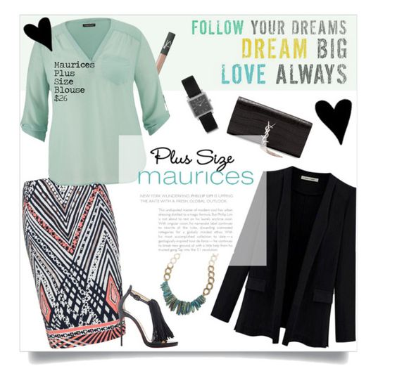 """Love Always: Maurices Plus Size Blouse Contest Entry"" by junglover ❤ liked on Polyvore featuring NARS Cosmetics, Anna Scholz, Christian Louboutin, Yves Saint Laurent, maurices, Isabel Marant, Maurices, polyvoreeditorial, polyvorecontest and plussizefashion"