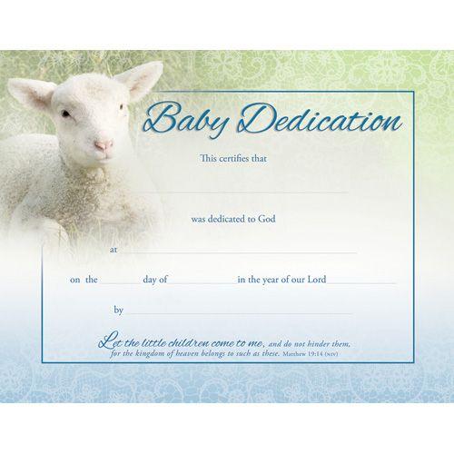 Baby Dedication certificate Certificates Pinterest Baby - baby dedication certificate