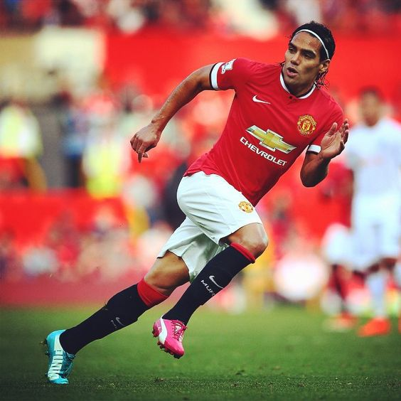 Can't wait to see, and hear the crowd's reaction to his first MUFC goal... Radamel Falcao has quickly become a  fan favourite at Old Trafford.