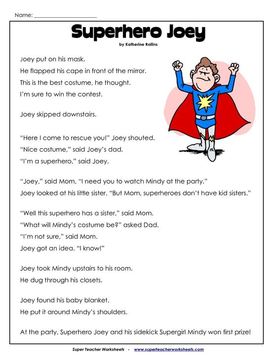 reading comprehension passages for 2nd grade - Google Search | JP ...