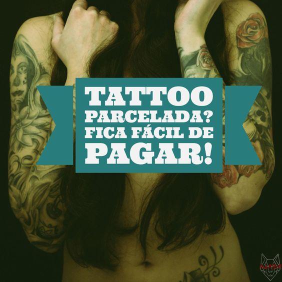 Parcelamos sua #tattoo em até 6x sem juros. Consulte valores, bandeiras atendidas e condições. Venha #tatuar com a gente! #OMelhorEstúdioDoEstreito #AlcateiaFloripa #Floripa #Alcateia