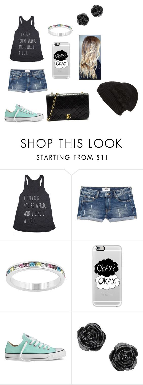 """""""Be yourself, Be weird"""" by allison-b-1806 ❤ liked on Polyvore featuring MANGO, Kate Bissett, Casetify, Converse, Chanel and Phase 3"""