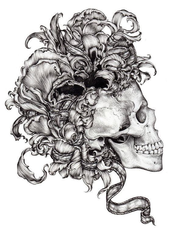 LucyHardie aka Lucy Hardie (Australia) - Memento Mori, 2012      Drawings: Ink on Cotton Paper
