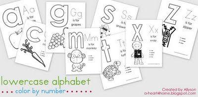 As letras do alfabeto em menuscula, com vocabulário em inglês.