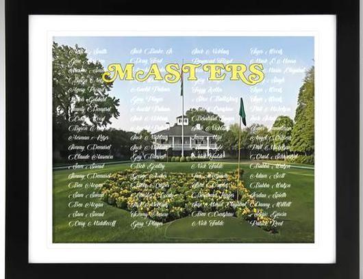 Masters Champions Wall Art Augusta Golf Club Impressionism Effect Print Golf Decor Masters Wall In 2020 Golf Decor Master Decor Augusta Golf