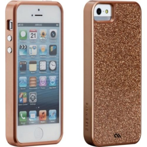 apple iphone 5 5s rose gold rosegold glitter glam case. Black Bedroom Furniture Sets. Home Design Ideas