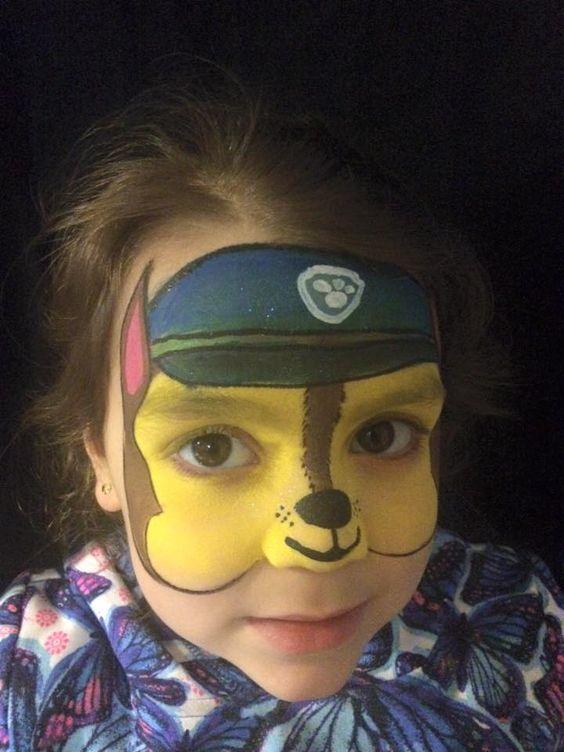 Paw Patrol face painting by Catita Lorenzo: