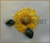 Silk Ribbon Embroidery: Tutorial - Sunflower