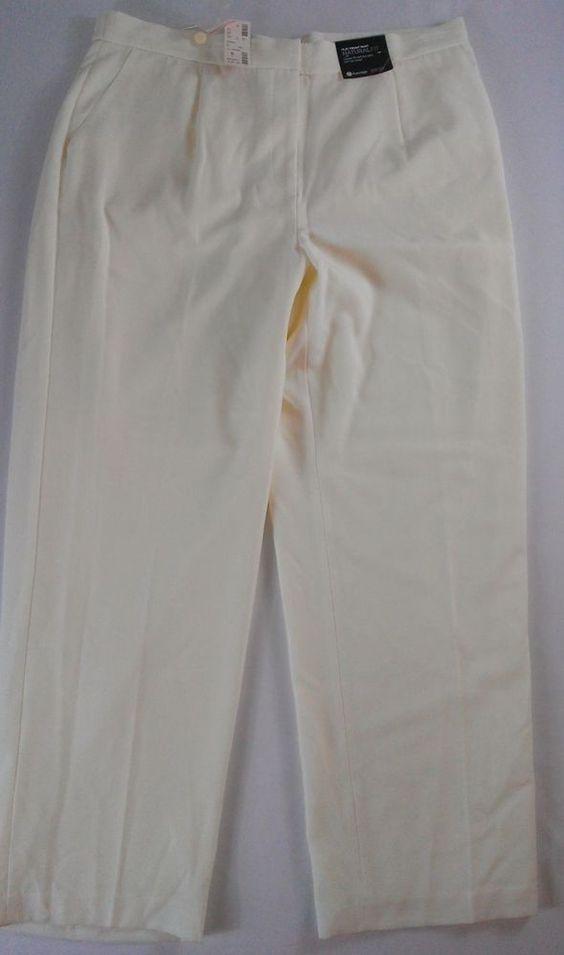 NWT #Avenue Lined Dress Pants Women's SZ 16 Stretch 38 x 30 Actual Cream Business http://www.ebay.com/itm/-/301532543194?roken=cUgayN&soutkn=jfLBlx #newpants #thrifting #fashion