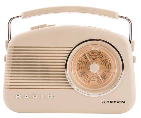 NEW Thomson DAB AM FM Retro Digital Radio LED Display 10 Presets Cream | eBay