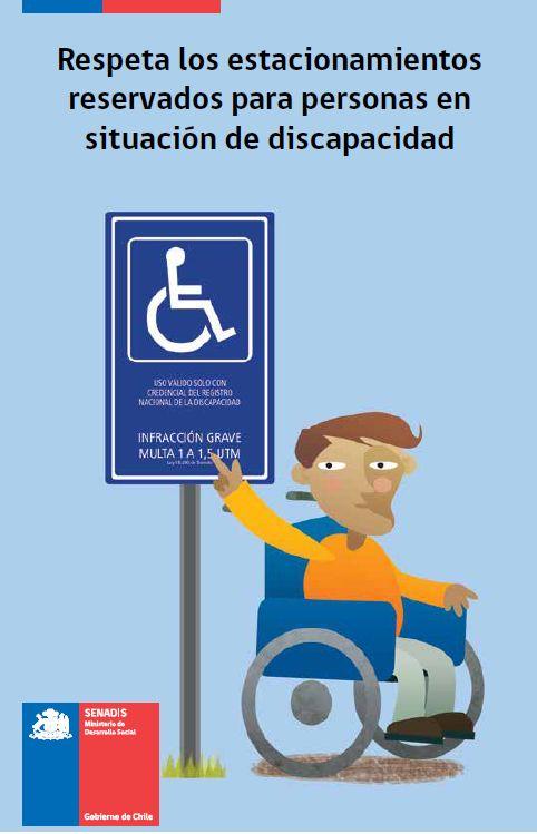Volante Respeta los Estacionamientos para Personas en Situación de Discapacidad