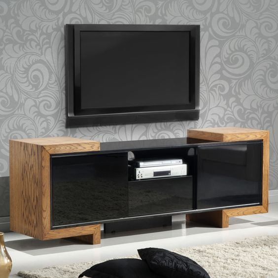 Furnitech 75 tv stand contemporary media cabinet in high for Cockaert interieur