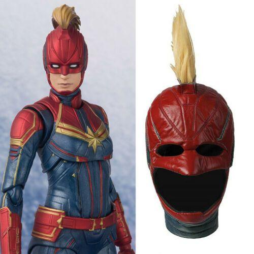 Captain Marvel Costume Carol Danvers Cosplay Mask Wigs Full Face Helmet Props Marvel Masks Captain Marvel Costume Captain Marvel