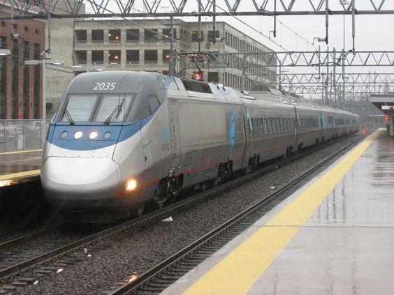* Amtrak Acela 2035 *  New Haven. USA. Comboio de Alta Velocidade, versão do TGV francês.