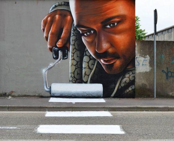 Arte de rua que interage com o ambiente ao redor!
