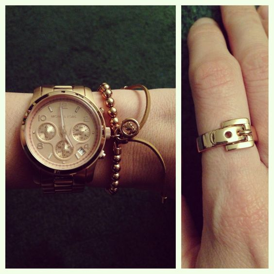 Rose gold Michael Kors from my love <3