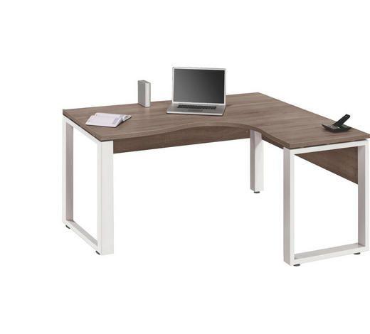 Eckschreibtisch In Holzfarben Weiss Kaufen Eckschreibtisch Eckschreibtisch Weiss Schreibtisch