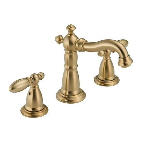 Delta Brass Faucet Delta Faucet 3555 Mpu Dst Victorian Widespread