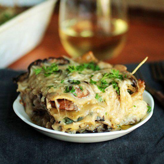 Mushroom and Spinach Lasagna | Recipe | Spinach lasagna ...