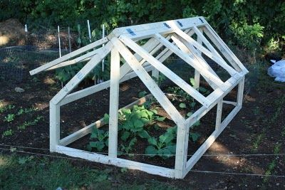 Frame Work for Bed Greenhouses Great for Winter!