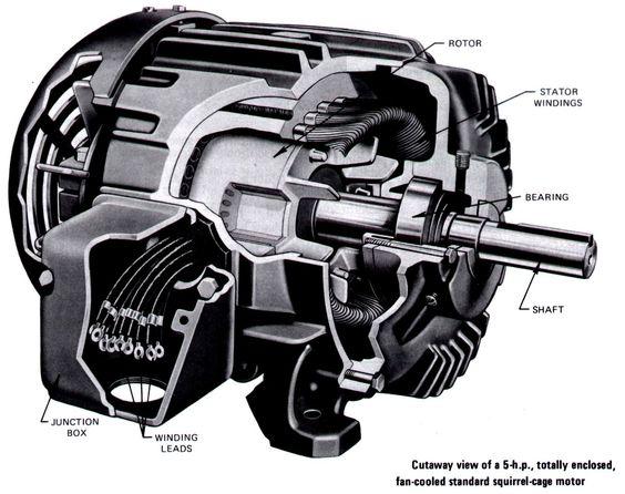 Electric motor vintage cutaway