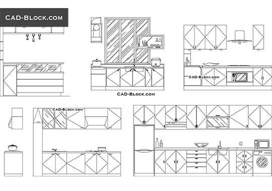 Kitchen Elevation Free Autocad Blocks Kitchen Elevation