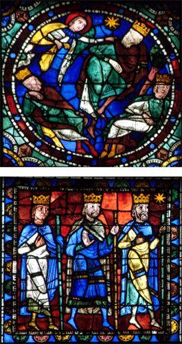 Vitrail de l'Incarnation et de l'enfance du Christ - Le retour des mages