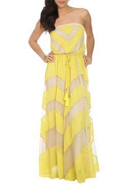 Chevron Stripe Maxi Dress from ArdenB.com