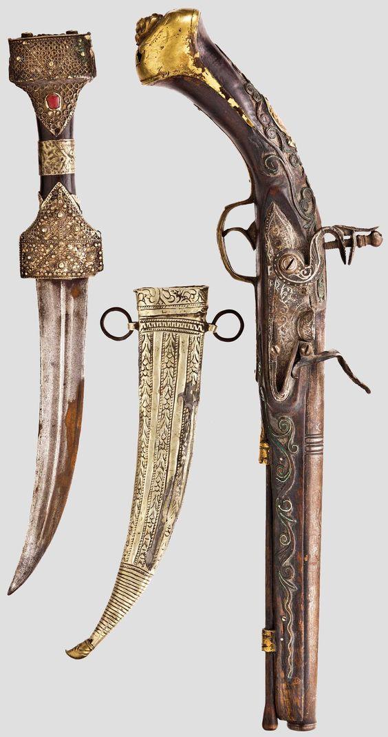 Ottoman Empire Flintlock pistol, Balkan Turkish, 19th century.