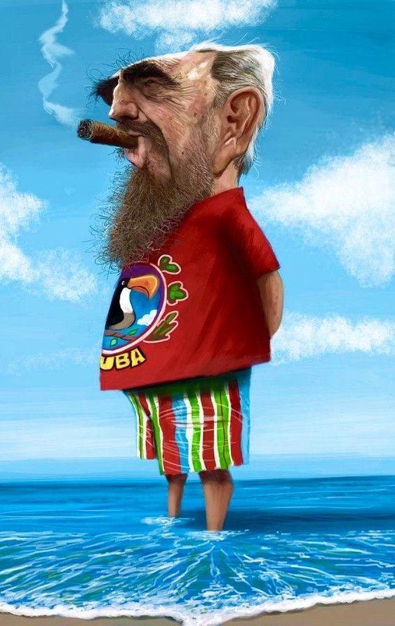 Fidel Castro by Ernest Priego