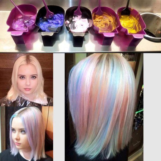 Opals, Opal hair and Hair on Pinterest