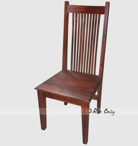 Modern Solid Sheesham Wood Chair Contemporary Wooden Dining Chair