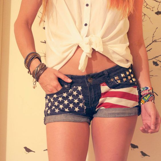 I could so turn my american flag shorts into these