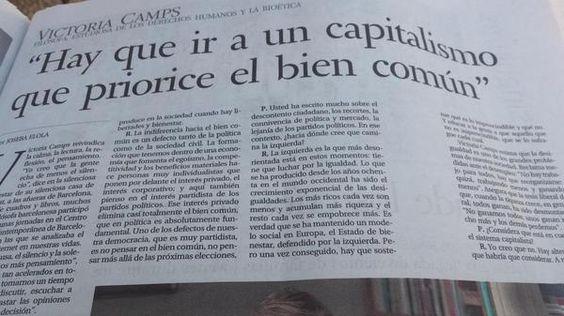 Hugo Martínez Abarca @hugomabarca Victoria Camps, la filósofa que olvidó el principio de no contradicción->
