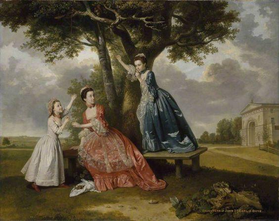 Three Daughters of John, 3rd Earl of Bute, c. 1763-4 by Johann Zoffany