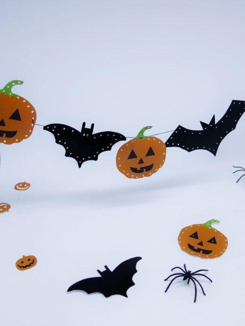 Halloween Halloweenparty Dekoration Free Printable Kostenlose Vorlage Bei Mir Auf Dem Blog Halloween Girlande Girlanden Halloween